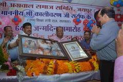 Político In Jaipur Fotografía de archivo
