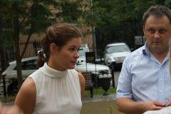 Político Maria Gaidar do russo na reunião Fotografia de Stock Royalty Free