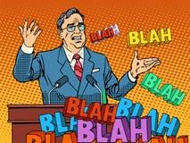 Político que fala na reunião está vazio ilustração royalty free
