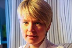 Político ruso, activista ambiental Yevgenia Chirikova, retrato Imagen de archivo libre de regalías