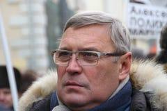 Político ruso Mikhail Kasyanov en una marcha en apoyo de presos políticos Imagenes de archivo