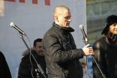 Político Sergei Udaltsov Foto de archivo