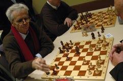 Políticos de la competencia del ajedrez Imágenes de archivo libres de regalías