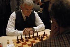 Políticos de la competencia del ajedrez Foto de archivo libre de regalías