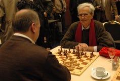 Políticos de la competencia del ajedrez Fotografía de archivo libre de regalías