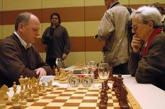 Políticos de la competencia del ajedrez Imagen de archivo