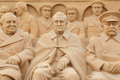 Políticos de la escultura en centro de exposición Foto de archivo