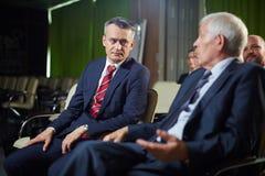 Políticos en la cumbre Foto de archivo libre de regalías