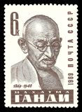 Políticos famosos, Mahatma Gandhi Fotos de Stock Royalty Free