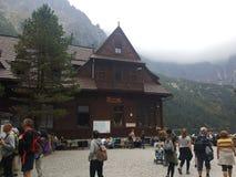 Polônia, Malopolska, montanhas de Tatra, abrigo da montanha imagem de stock