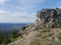 Polônia, Malopolska, montanhas de Tatra - a picareta de Wielki Kopieniec imagens de stock