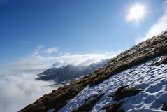 Polônia - Tatry - neve em setembro Fotografia de Stock