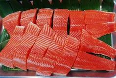 Polędwicowa łosoś ryba świeża obraz royalty free