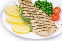 polędwicowa ryba piec na grillu Zdjęcia Stock