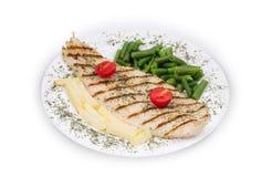polędwicowa ryba piec na grillu Zdjęcie Stock