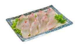 polędwicowy rybi surowy surowy rybi polędwicowy na tle Zdjęcie Stock
