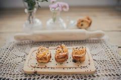 Polędwicy grzanka z karmelizującą cebulą Obraz Royalty Free