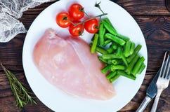 polędwicowi kurczaków warzywa Obraz Stock