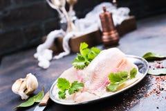 polędwicowy rybi surowy Obrazy Stock