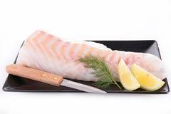 polędwicowy rybi surowy Zdjęcie Stock
