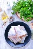 polędwicowy rybi surowy Obraz Royalty Free