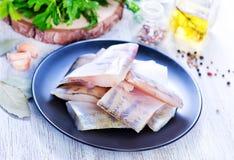 polędwicowy rybi surowy Obraz Stock