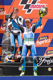 Pol Espargaro in the podium Stock Photo