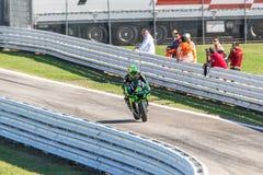 Pol Espargaro on Yamaha Monster Tech 3 team racing Royalty Free Stock Photos