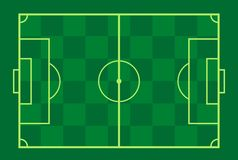 Pol för fotboll (fotboll) Royaltyfri Fotografi