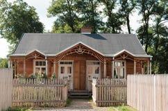 Polônia de madeira da vila da arquitetura da casa foto de stock royalty free