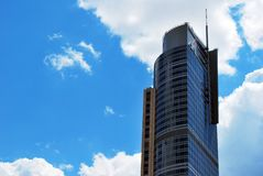Polônia de Varsóvia, o 11 de junho de 2016 Torre do comércio de Varsóvia Fotos de Stock Royalty Free