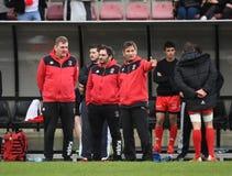 Polônia - jogo de rugby de Suíça Fotografia de Stock
