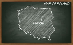 Polônia no quadro-negro Imagem de Stock Royalty Free