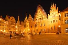 Polônia, Wroclaw, mercado velho Fotografia de Stock Royalty Free
