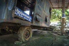 Pol pot mobile khmer rouge radio station anlong veng cambodia Stock Photo