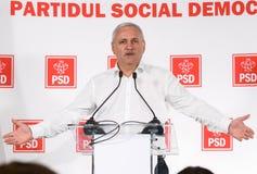 Pol?tica de Rom?nia - Liviu Dragnea - Partido Democratico Social fotos de stock