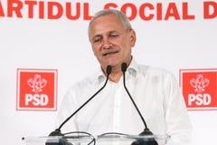 Pol?tica de Rom?nia - Liviu Dragnea - Partido Democratico Social imagens de stock royalty free
