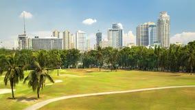 Pola golfowego pole z stawowy pobliski Intramuros, Manila, Filipiny obrazy royalty free