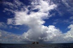 Pola naftowe zatoka meksykańska Fotografia Royalty Free