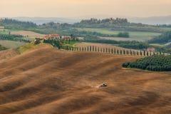 Pola przy willą Agriturismo Baccoleno Fotografia Stock