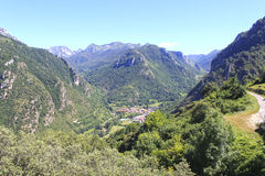 Pola of Somiedo, village in the middle of the mountains in Asturias Stock Photo