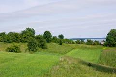 pola zielenieją jeziora wigry krajobrazowy obrazy stock