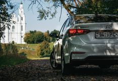 Hyundai Accent 2017 outdoor back view royalty free stock image