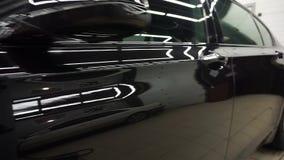 Polaco del coche en servicio Cierre para arriba detailing almacen de video