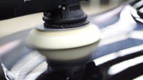 Polaco del coche en servicio Cierre para arriba detailing almacen de metraje de vídeo