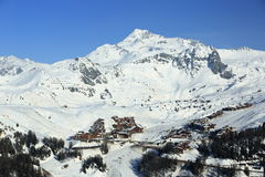 Polagne Villages, Winter landscape in the ski resort of La Plagne, France Stock Image