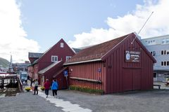 Polair Museum in Tromso, Noorwegen stock afbeeldingen