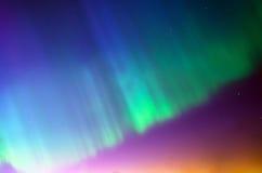 Polair noordelijk Lichtenaurora borealis De sterren van de hemelnacht royalty-vrije stock fotografie