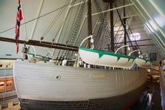 Polair Schip Fram bij het Fram-Museum in Oslo, Noorwegen stock afbeeldingen