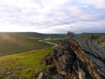 Polair ural landschap Stock Fotografie